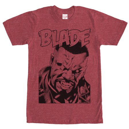 Marvel Men's Blade Vampire Hunter Portrait T-Shirt