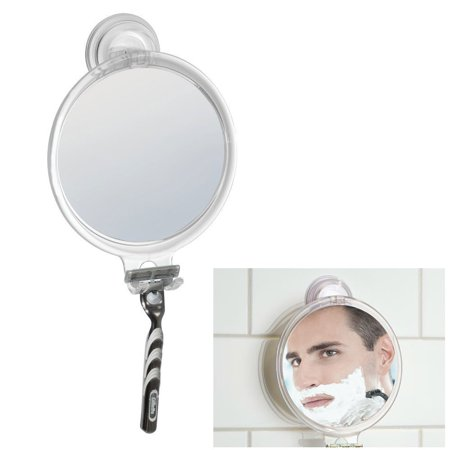 Fog Free Shower Shaving Round Oval Mirror with Power Lock Suction Mount Anti Fog Shaving Mirror