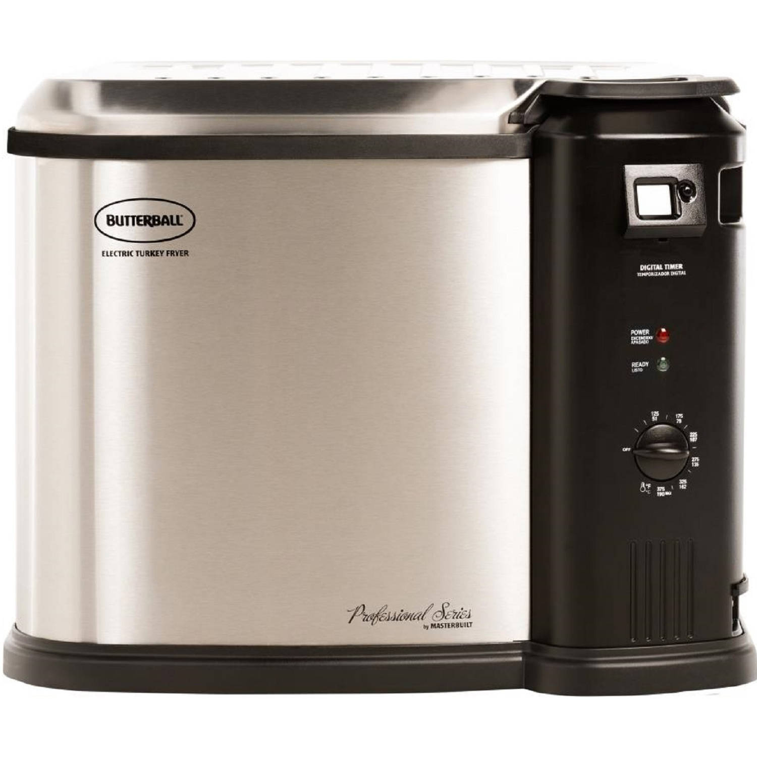 Masterbuilt 23011615 Butterball Electric Indoor Turkey Fryer, Extra Large, 1650 W, Silver