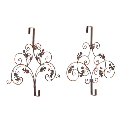 The Holiday Aisle Pine Cones Wreath Hanger (Set of 2)