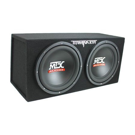 MTX TNE212D 12-Inch 1200-Watt Car Audio Dual Loaded Subwoofer Box
