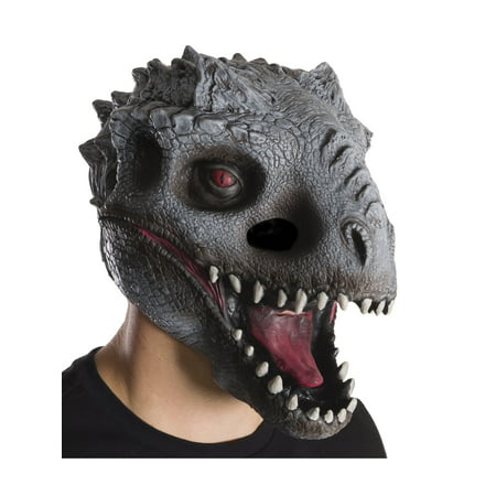 Jurassic World: Indominus Rex 3/4 Mask For Adults, One Size Halloween Accessory](Geisha Hair And Makeup For Halloween)