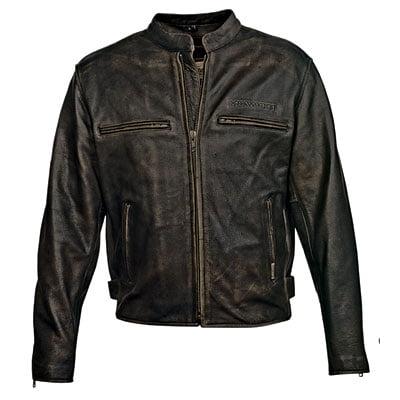 Milwaukee MMCC Crazy Horse Leather Motorcycle Jacket XXX-Large Black