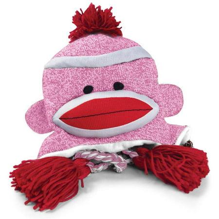 Pennington Bear Company The Original Sock Monkey Hat, Knit, Plush Material, Adult Size (Pink)