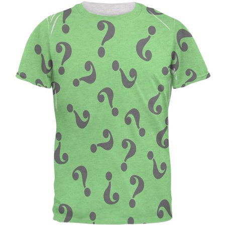 Halloween Riddle Me This Costume Mens T Shirt - Family Halloween Events Near Me