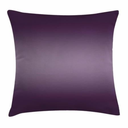 Ombre Throw Pillow Cushion Cover, Hollywood Theater Inspired Digital Purple Colored Modern Design Room Decorations Artwork, Decorative Square Accent Pillow Case, 18 X 18 Inches, Purple, by Ambesonne