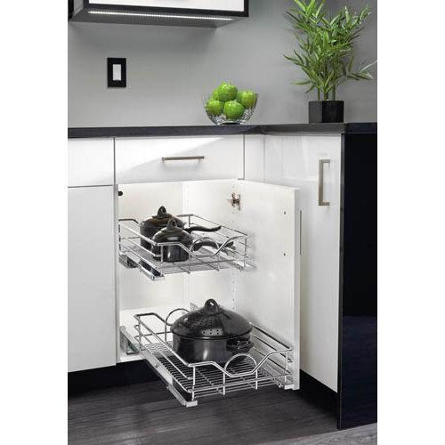 Rev-A-Shelf  5730-33  Pull Out Organizers  5730  Base Cabinet Organizers  Baskets  ;Chrome