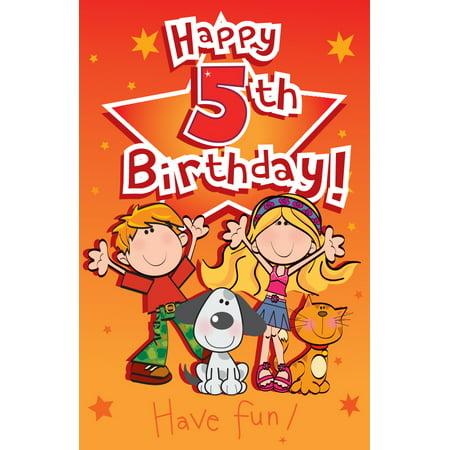 Singing Card- Happy 5th Birthday - Walmart.com