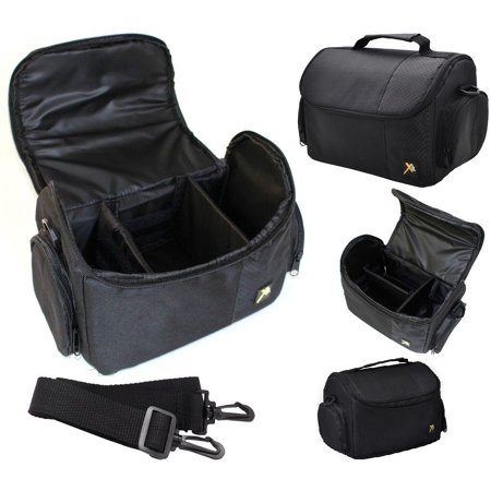 Large Deluxe Camera Camcorder Carrying Bag Case For Sony FDR-AX53 ()