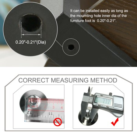 M6x20x30mm Leveling Feet Floor Protector Adjustable Leveler for Table Leg 10pcs - image 2 of 7