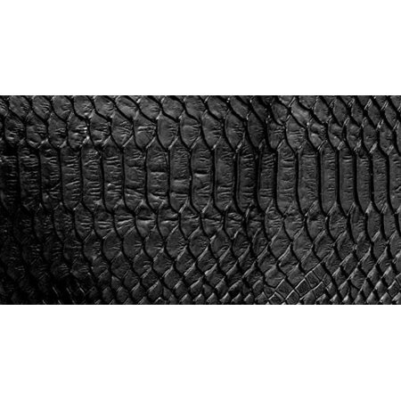 "BLACK Embossed Snake Vinyl 54"" Wide Textured Faux Leather Great for Upholstery, Purses & Bags Sold By Separate Half Yard"