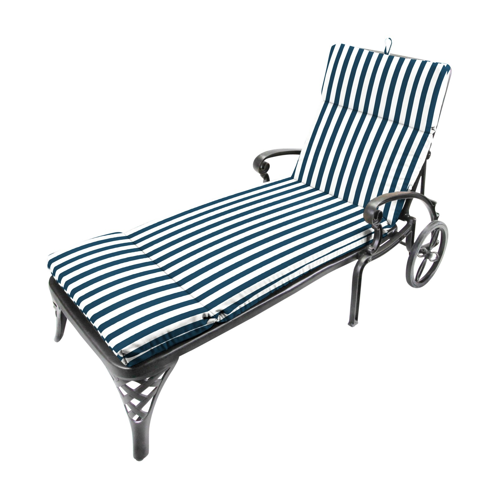Jordan Manufacturing 72 in. Outdoor Chaise Cushion - Stripe Oxford