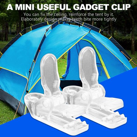 Image of Tent Clip,HURRISE 20 Pcs/Pack Tents Clip Hook Awning Wind Rope Clamp Tent Pull Point for Outdoor Camping