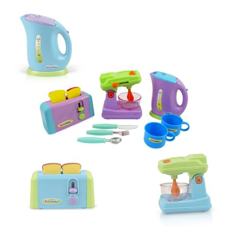 Gourmet Kitchen Appliances Toy Pretend Play Set For Kids With Mixer
