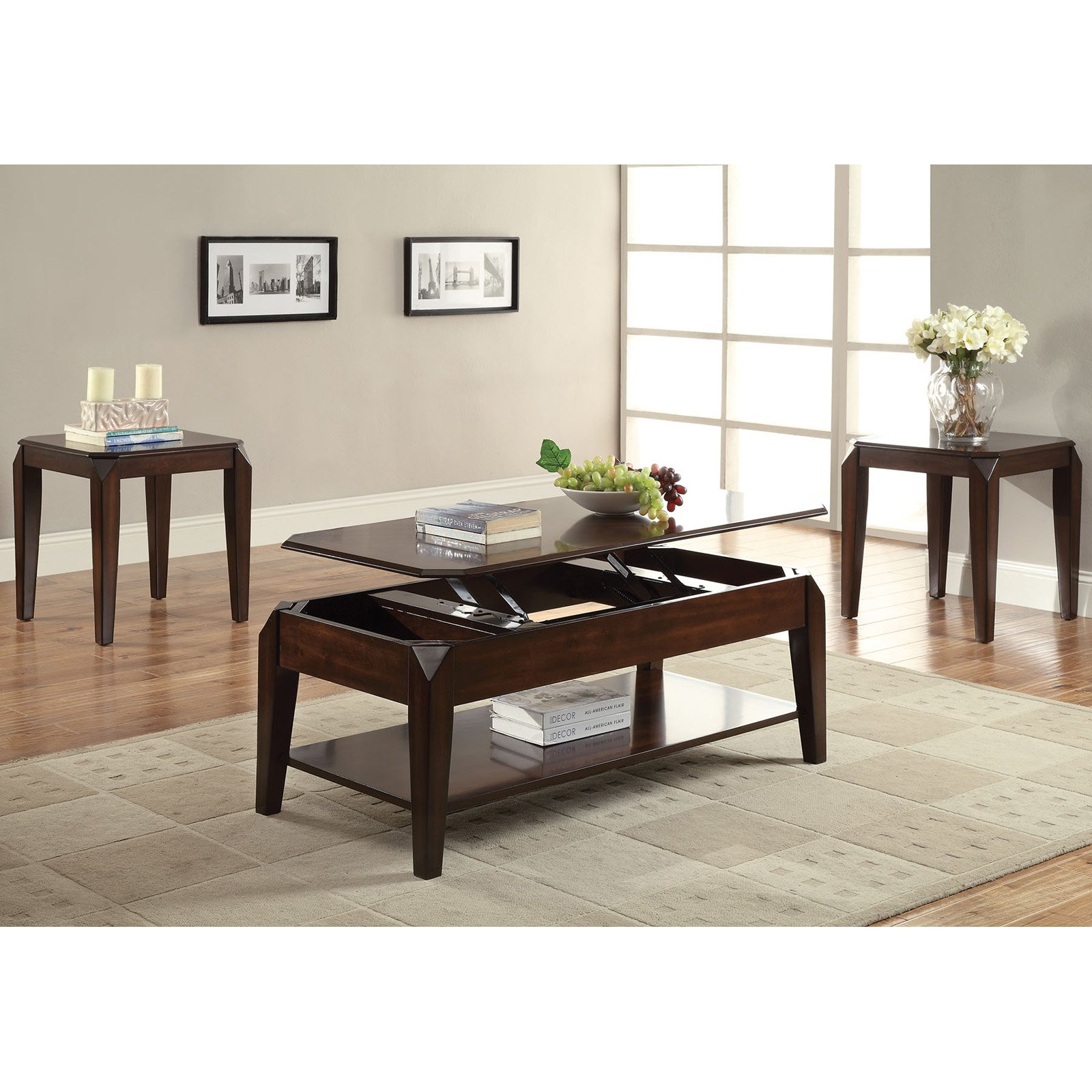 Acme Furniture Docila Walnut Coffee Table with Lift Top