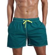 LELINTA Mens Swimming Board Shorts Swim Shorts Trunks Swimwear Solid Color Casual Quick Dry Beach Underpants