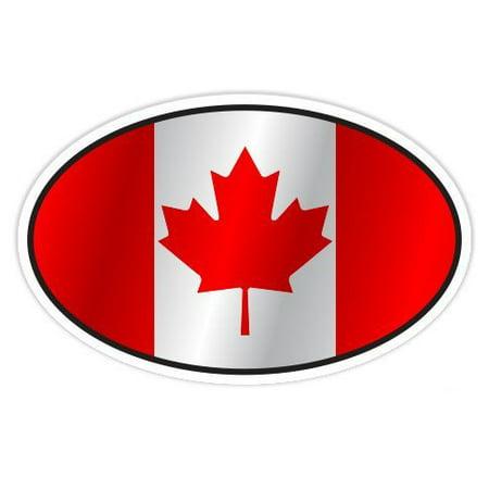 1970's Sticker - Canada Flag Oval - Vinyl Sticker Waterproof Decal Sticker 5
