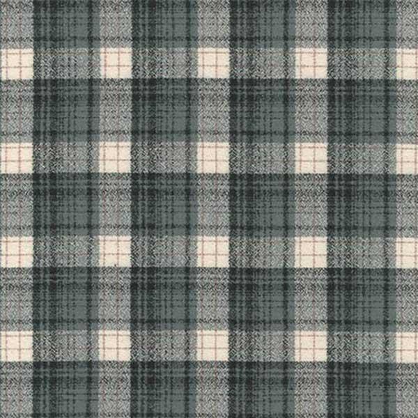 Robert Kaufman Fabrics Mammoth Woven Cotton Flannel Grey Small Plaid