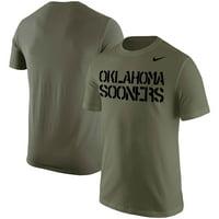 Oklahoma Sooners Nike Stencil Wordmark T-Shirt - Olive