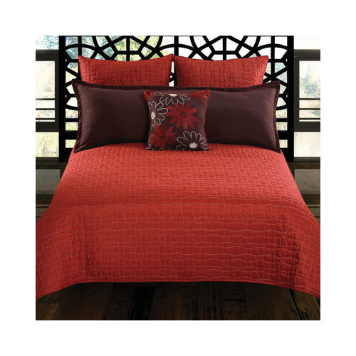 Hallmart Collectibles Charleston 5 Piece Coverlet Set