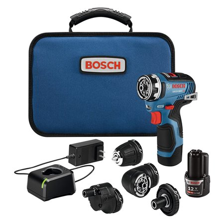 Bosch GSR12V-300FCB22 12V Max EC Brushless Flexiclick 5-In-1 Drill/Driver System