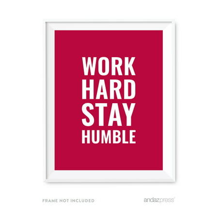 Work Hard, Stay Humble Motivational Wall Art, Inspirational Quotes for Home