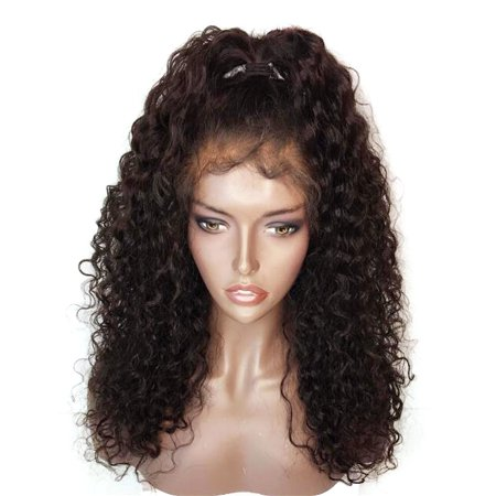 Synthetic Hair Wig (Synthetic Wig Density Long Loose Curly Synthetic Lace Front Wigs Black and Brown Color Hair for Fashion)