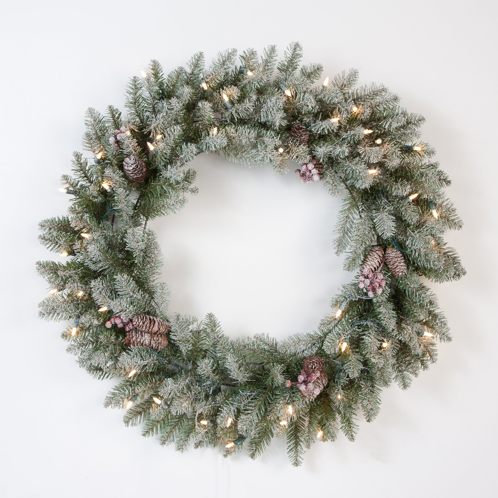 30 in. Snowy Dunhill Wreath