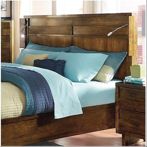 North Shore Contemporary Walnut Finish Bed King Size