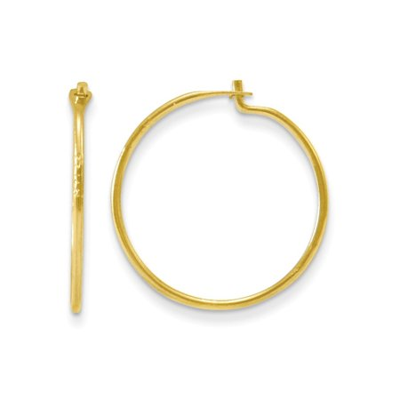 14k Yellow Gold Small Endless Hoop Earrings Ear Hoops Set Round Gifts For Women Her