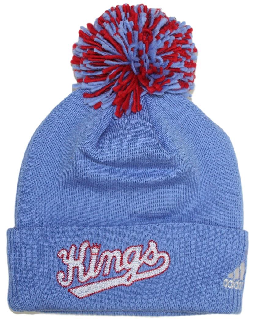 Sacramento Kings Adidas NBA Hardwood Classics Cuffed Knit Hat with Pom by Adidas