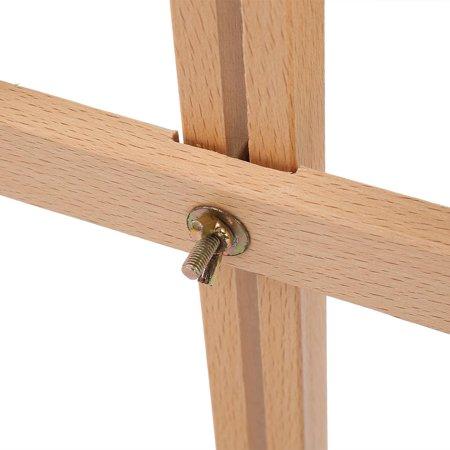 HURRISE Adjustable Height 106cm Tabletop Wood Studio H-Frame Easel Artist Painting Tool, Adjustable Easel, Wood Easel - image 2 of 12
