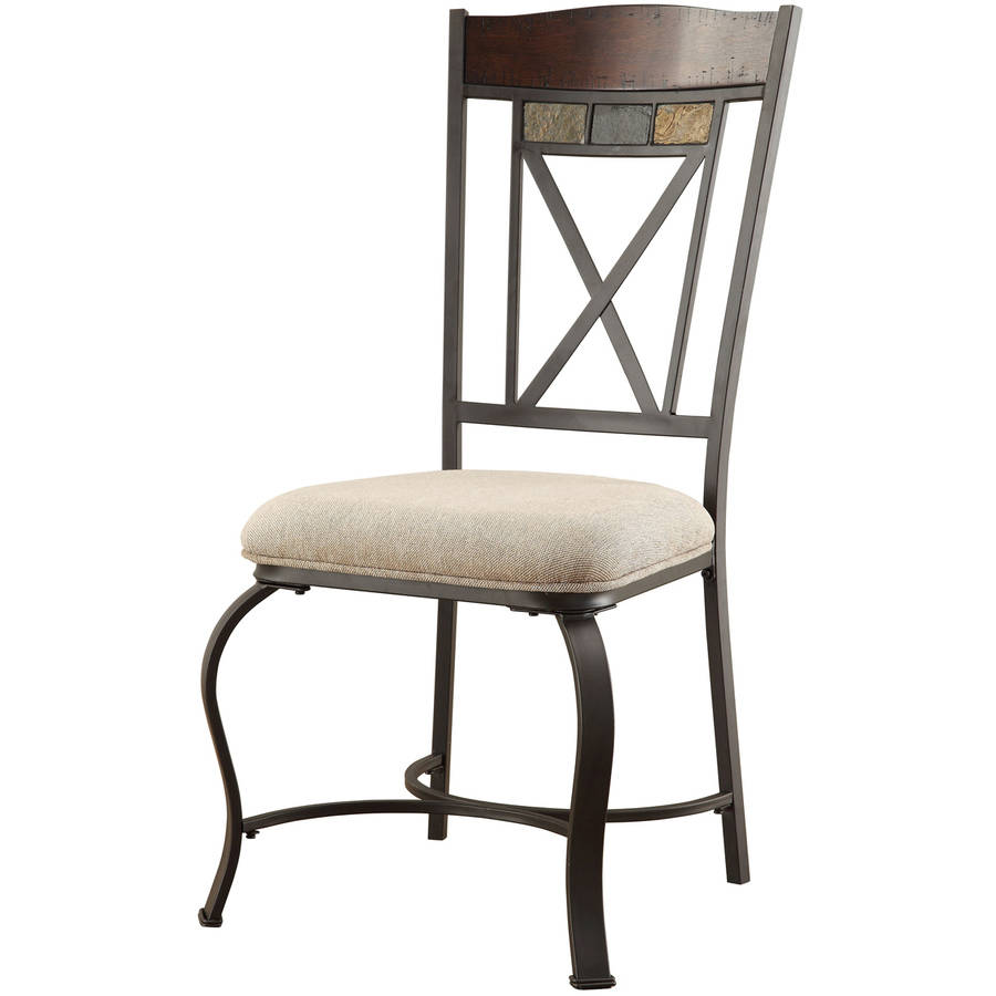 Hyatt Side Chair, Cherry and Antique Black, Set of 2