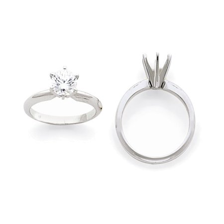 1/3ct. Heavy-Weight Half-Round 6-Prong Solitaire Mounting