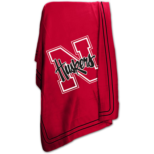 "Logo Chair NCAA Nebraska 50"" x 60"" Classic Fleece Throw"