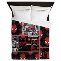 CafePress - Spider Man Rescue - Queen Duvet Microfiber