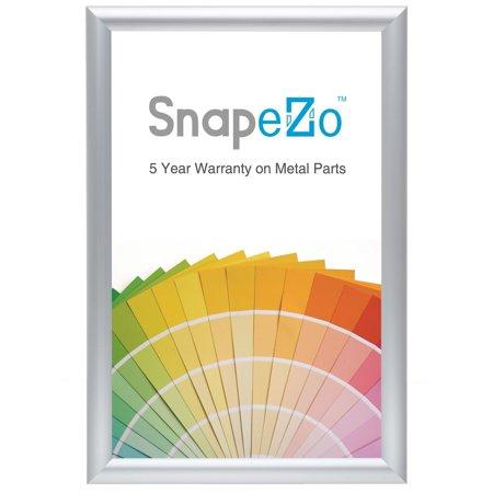 Silver snap frame photo size 10x15 - 1.2 inch profile - Walmart.com