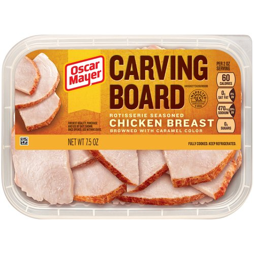 Oscar Mayer Carving Board Rotisserie Seasoned Chicken Breast, 7.5 oz