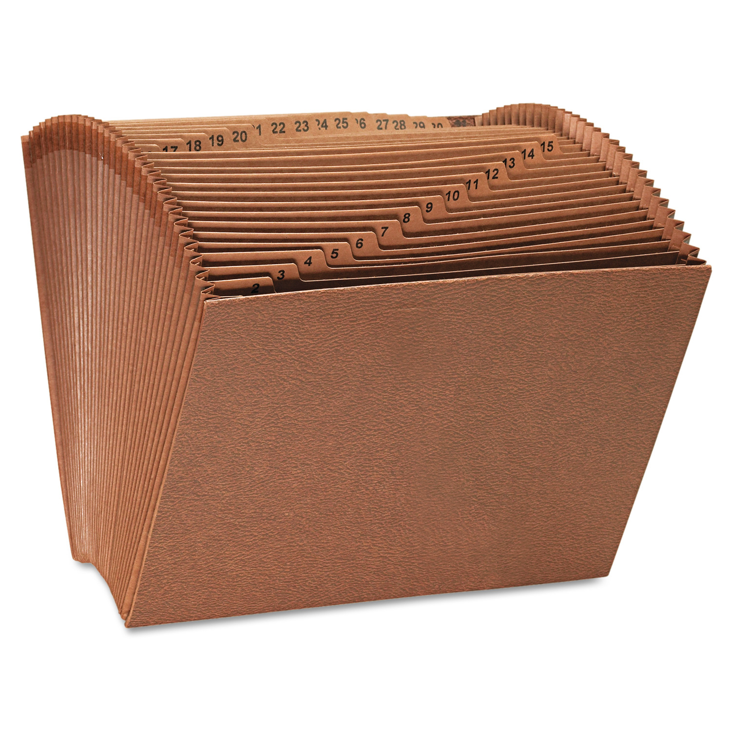 Universal Expanding File, Open Top, 12 x 10, 1-31, Letter, Redrope -UNV13920
