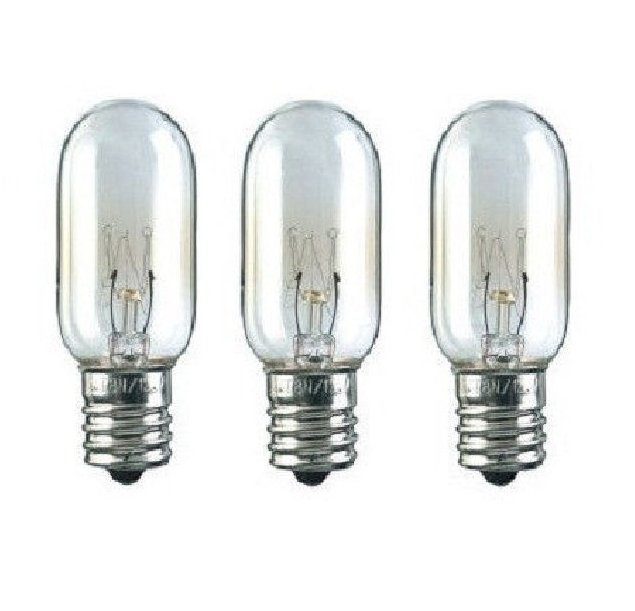 3 Microwave Light Bulbs for GE WB36x 40W 130V