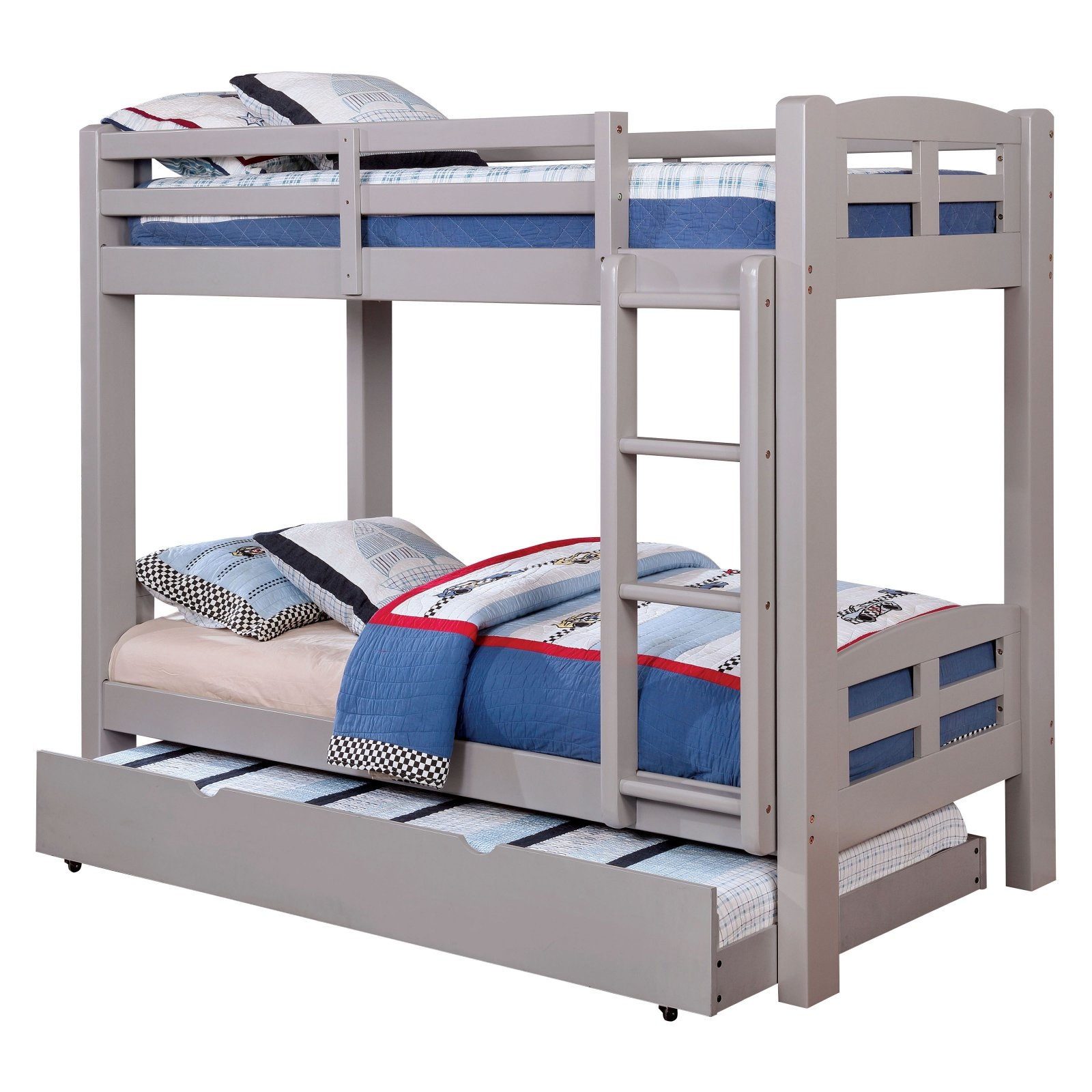Furniture of America Zak Contemporary Twin Over Twin Bunk Bed