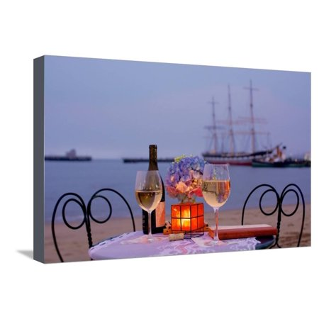 Hyde Park Cafe Halloween (Dream Cafe Hyde St Pier #34 Stretched Canvas Print Wall Art By Alan)