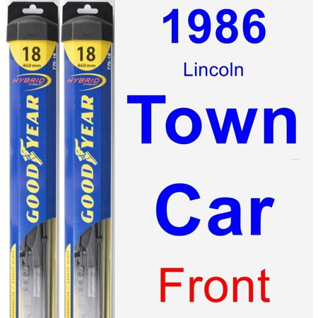 1986 Lincoln Town Car Wiper Blade Set/Kit (Front) (2 Blades) - Hybrid (Hybrid Cap)