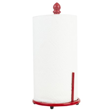 Home Basics Cast Iron Chevron Design Paper Towel Holder, Red, 6.5x14 Inches - image 3 de 3