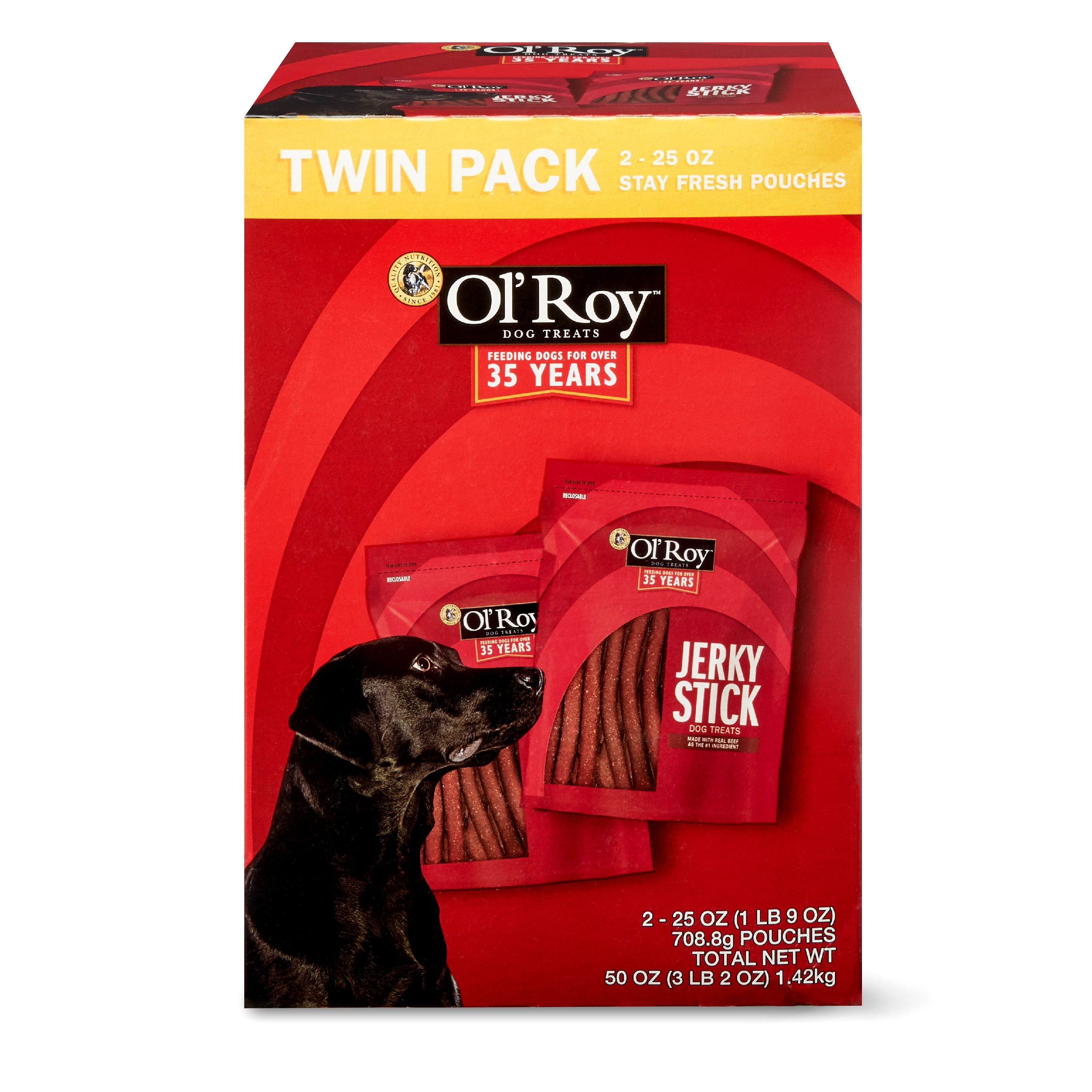 Ol' Roy Jerky Stick Dog Treats, 50 oz, 2 Count