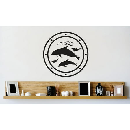 Do It Yourself Wall Decal Sticker New Ideas Dolphins Mammal Animal 16x16
