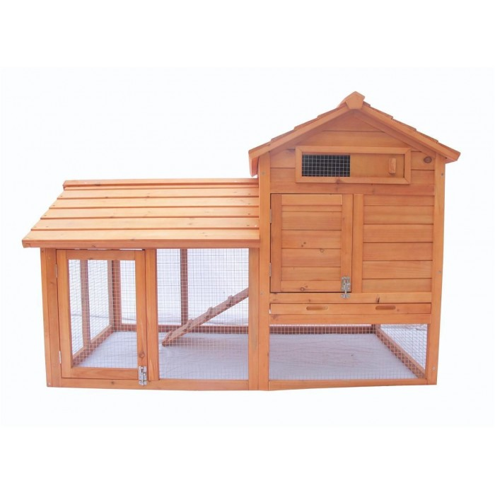 """ChickenCoopOutlet 58"""" Deluxe 2 Storey Solid Wood Chicken ..."""