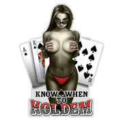 Erazor Bits Know When To HoldEm Reflective Vinyl Decal