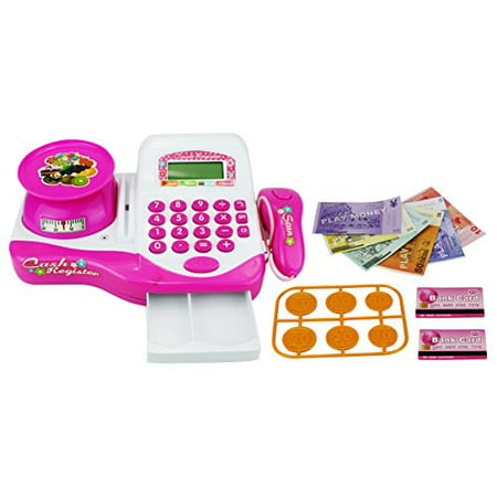 floral groceries educational pretend play battery operated toy cash