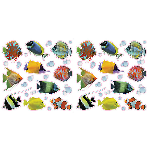 Home Decor Line Fish and Bubbles Window Decals